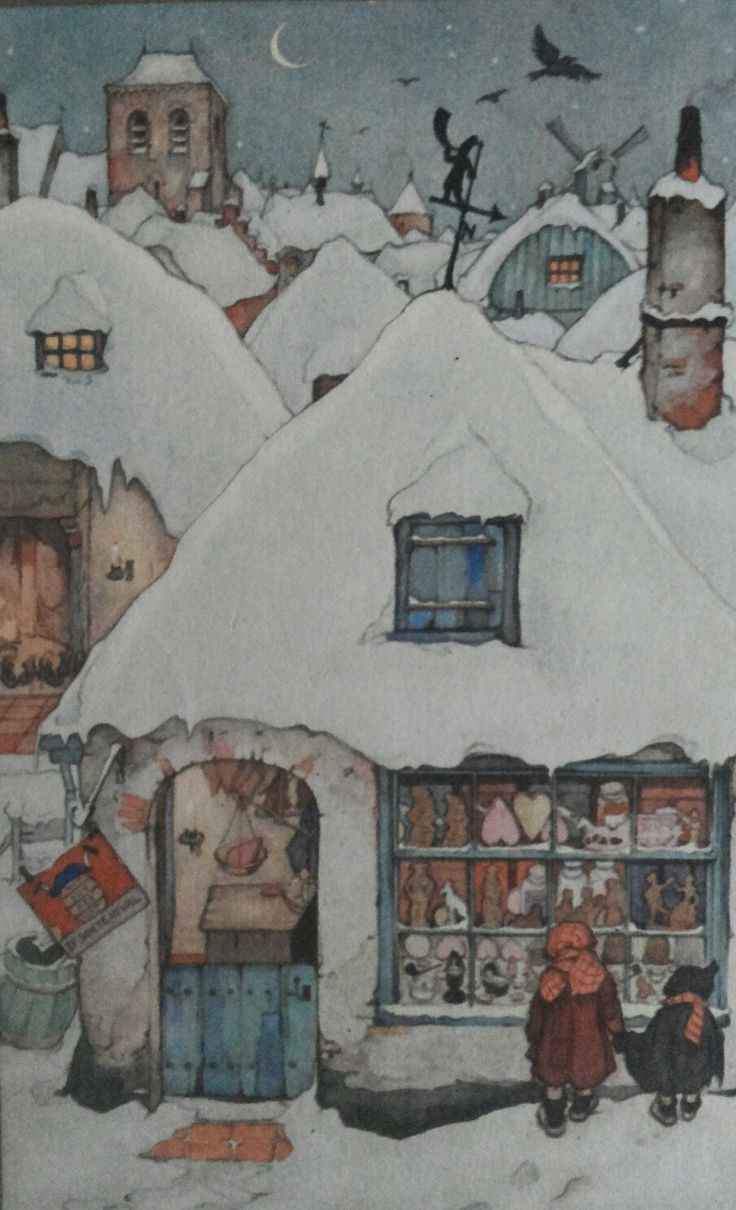 Een koekbakker  etalage met Sinterklaas lekkernijen zoals: Speculaaspoppen (Vrijer/vrijster), speculaasfiguren en liefdesharten.