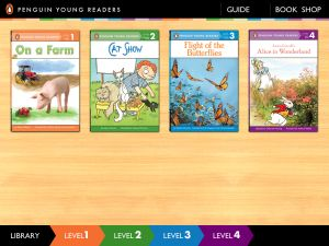Penguin Leveled Readers: iPad Bookshelf -> Penguin Leveled Reader is a wonderful bookshelf app for young readers.  Students can listen to narration, read along, and manipulate the story.  This app comes with one free text from each of the four levels offered and more can be downloaded with in-app purchases.  Check out my Common Core aligned lesson plans for teaching reading strategies on iPads!