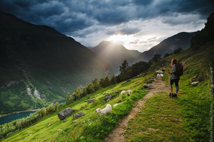 Hiking in Fjord Norway. Photo by Marina Sorokina.