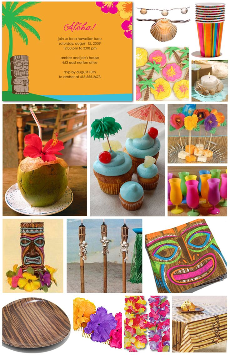 luau birthday party ideas | Festa Luau