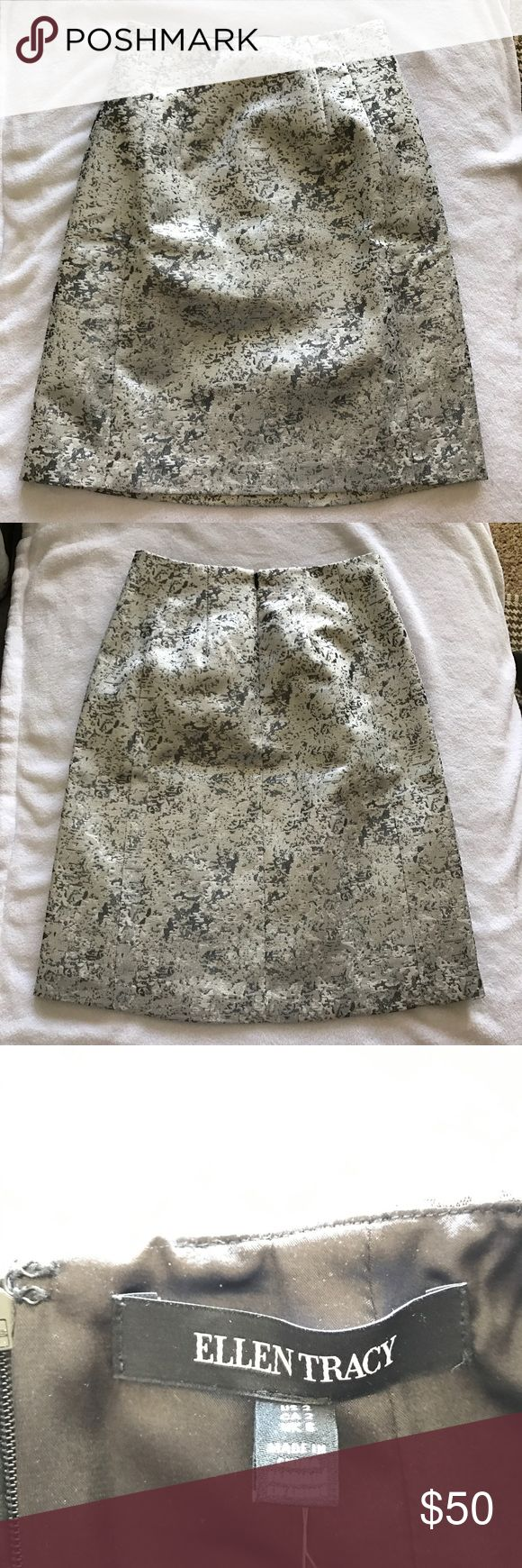 NWT Ellen Tracy Skirt Super cute silver and gray Ellen Tracy skirt! Perfect with a blouse! Never worn. Ellen Tracy Skirts
