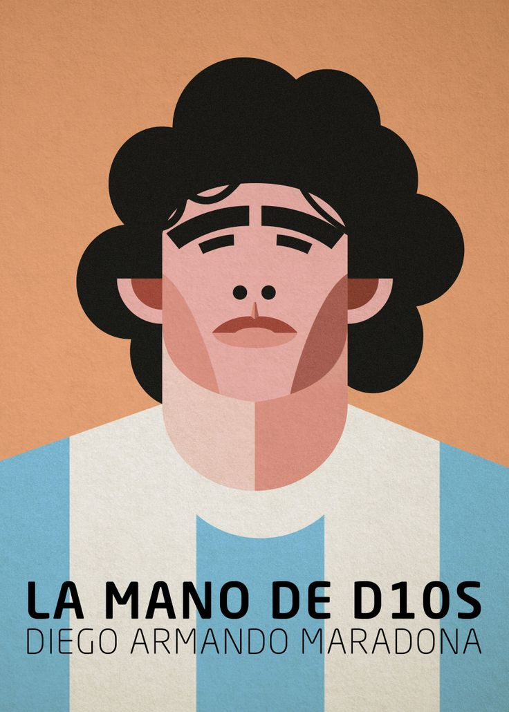 #cover #illustration #maradona #argentina #vector