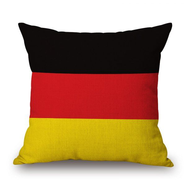 2016 Stylish European Cup German Flag Pattern Square Shape Flax Cushion Cover #CLICK! #clothing, #shoes, #jewelry, #women, #men, #hats, #watches