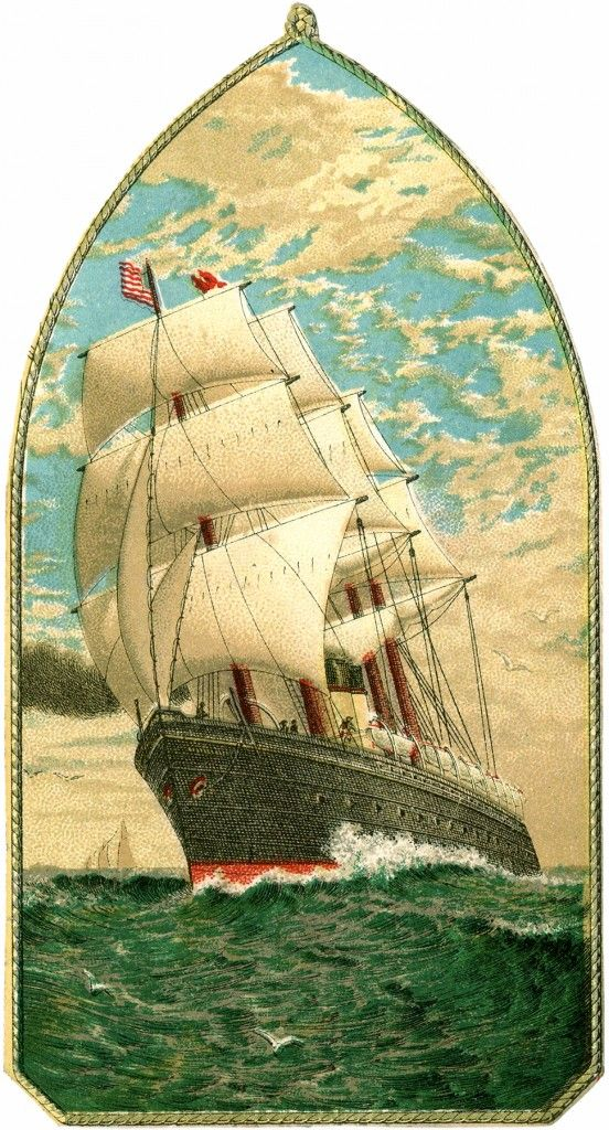 Vintage Ship Stock Image! - The Graphics Fairy
