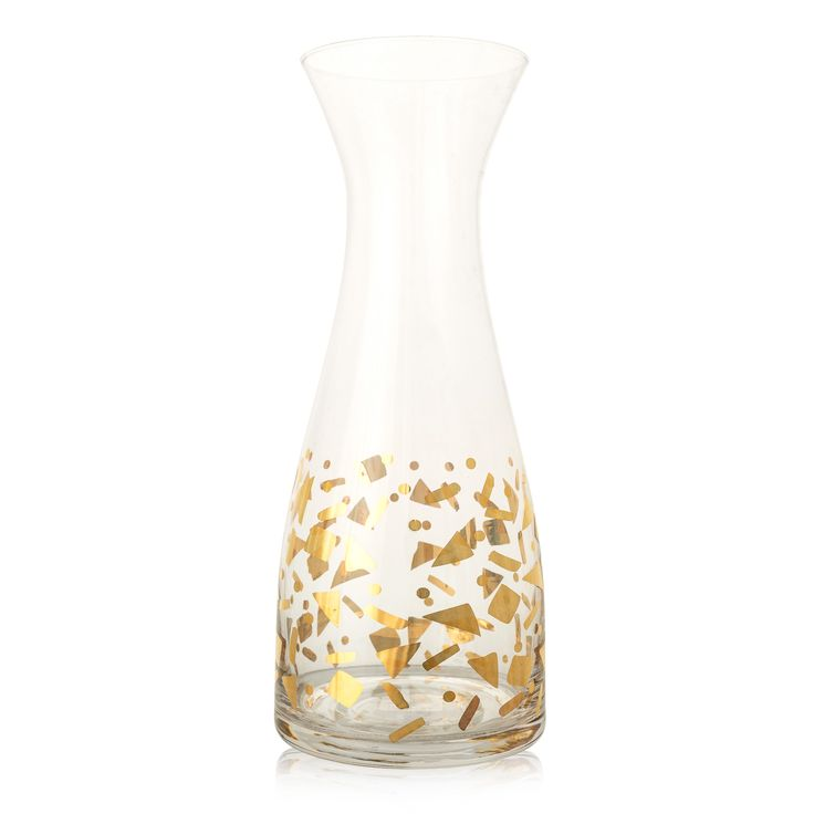 Buy the Gold Confetti Carafe at Oliver Bonas. Enjoy free UK standard delivery for orders over £50.