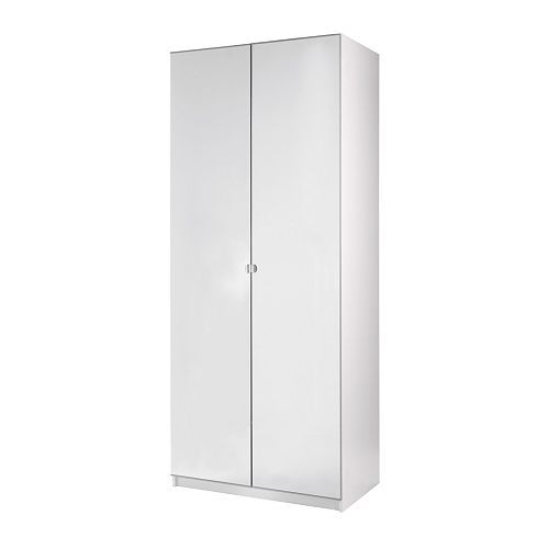 Pax wardrobe with 2 doors vikedal white 100x60x201 cm ikea laundry pinterest mirror - Ikea armoire with mirror ...