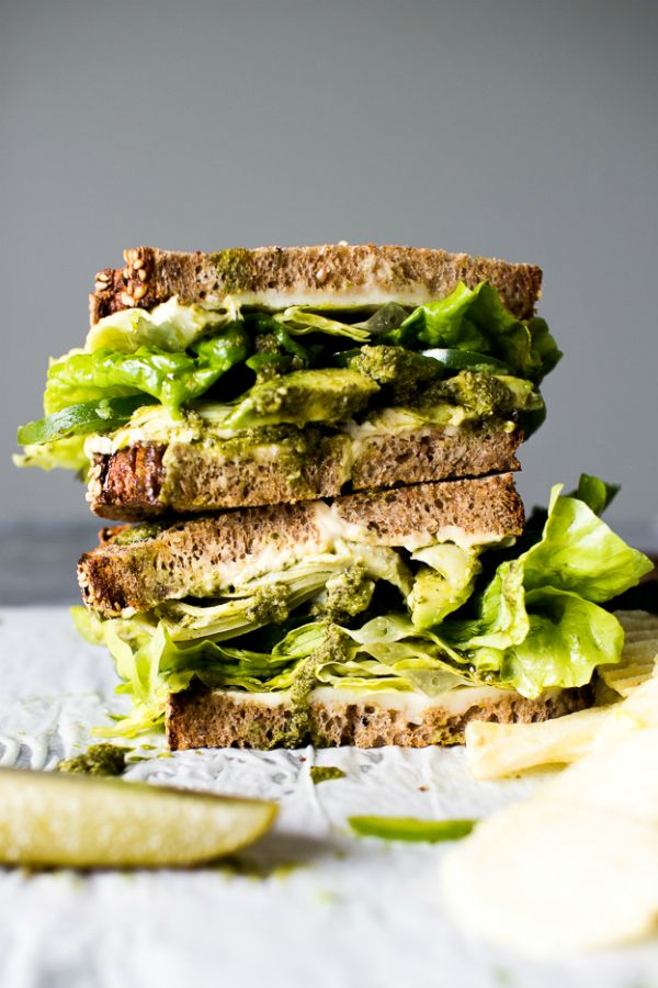 Groene vegetarische sandwich. Zeven blogrecepten   ELLE Eten