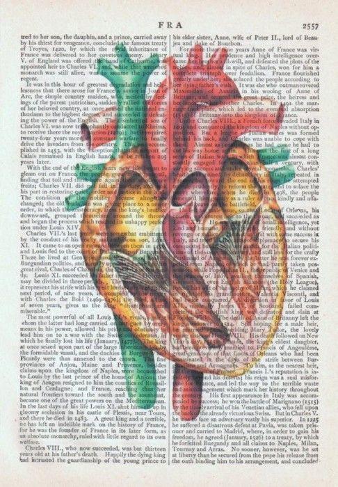 Vintage Anatomical Heart Book Page Art Print