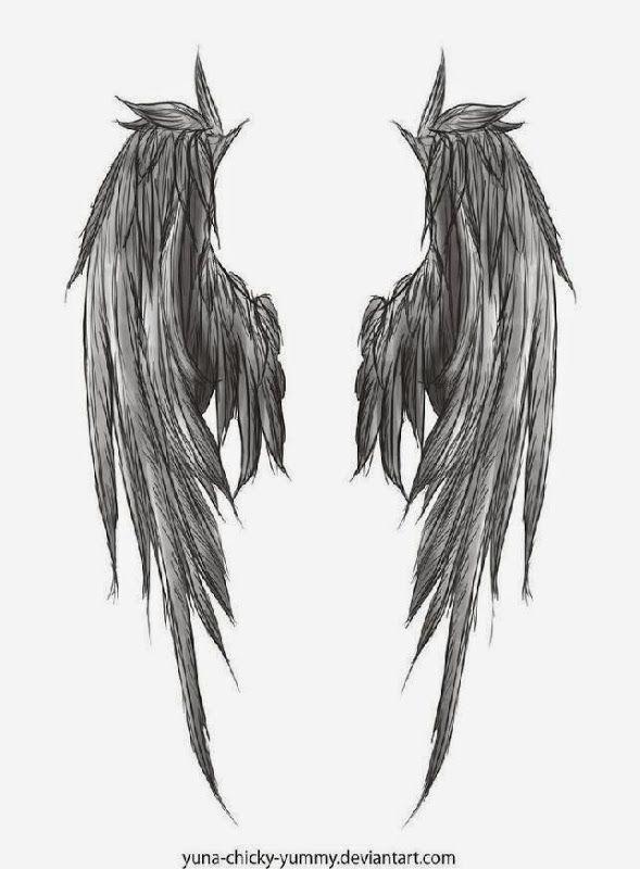 Favorite Dark Wings Tattoo style of Angel Wing Tattoos ...