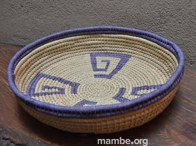 Panera con símbolos tradicionales de la cultura Piaroa. ( Vichada- Colombia)  #Artesanias Cómpralo en Mambe.org!