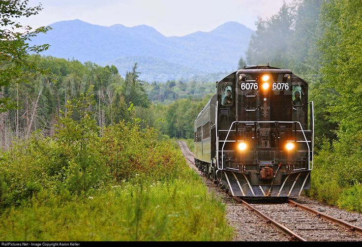 RailPictures.Net Photo: ADIX 6076 Adirondack Scenic Railroad EMD GP9 at Ray Brook, New York by Aaron Keller