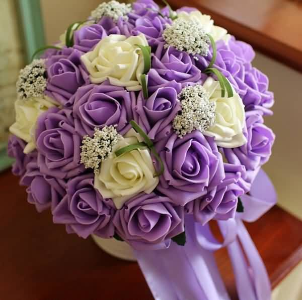 17 best silkartificial bouquet and flowers images on pinterest gorgeous artificial flower roses bouquet for brides sphere mightylinksfo