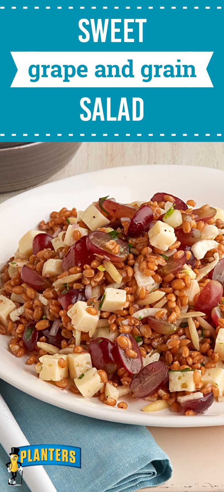 Sweet Grape and Grain Salad – Looking to try out a new recipe on your dinner table? Make sure to choose one with plenty of fresh flavor—like this hearty side dish! Grab the spelt berries, grapes, Havarti cheese, and slivered almonds to get started.