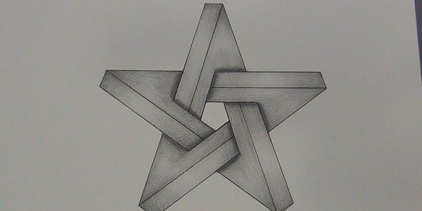 How to Draw an Impossible Star Optical Illusion - http://mydrawingtutorials.com/how-to-draw-an-impossible-star-step-by-step/