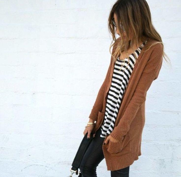 As 25 melhores ideias de Brown cardigan outfit no Pinterest ...