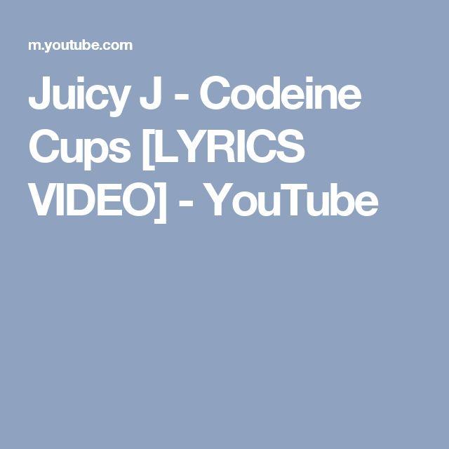Juicy J - Codeine Cups [LYRICS VIDEO] - YouTube