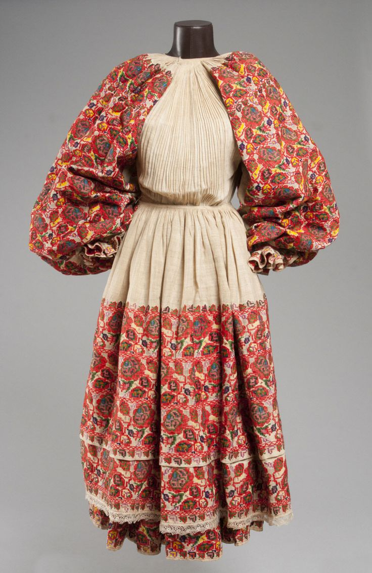 Woman's Attached Top and Skirt with Apron Made in Moslavina, Croatia, Europe c. 1930