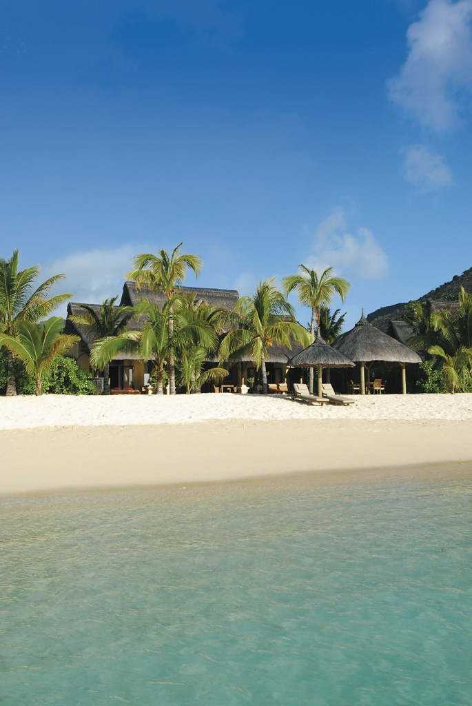 The private Villas at Paradis Hotel & Golf Club in Mauritius are set on a fantastic stretch of beach.
