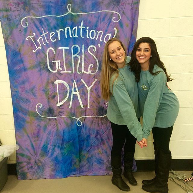 Create a cute International Girls Day  banner for your event!