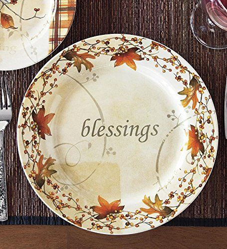 Amazon Com Wind Amp Weather Autumn Dinner Plate Kitchen