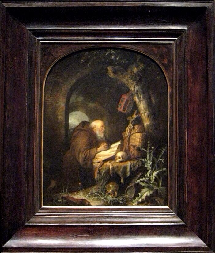 The Hermit by Gerrit Dou 1670. National Gallery of Art, Washington, Timken Collection