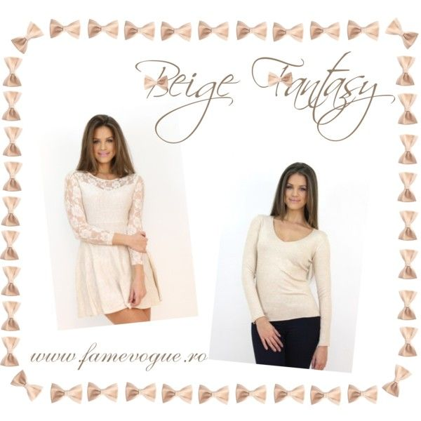 """♥ Beige Fantasy Casual Set♥"" by www.famevogue.ro on Polyvore...  #beige #casual #dress #style #trends #fashion"