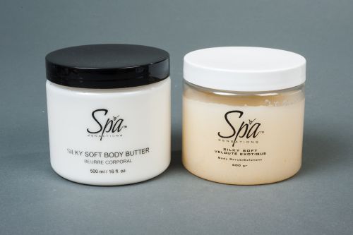 Amazing body stub and body butter combo- on sale now!  http://spasensations.com/product/silky-soft-butter-salt-scrub-combo-2/