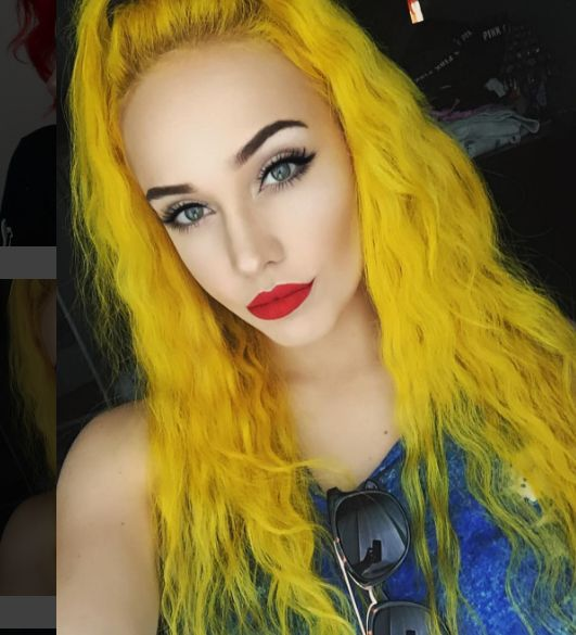 17 Best Ideas About Yellow Hair Dye On Pinterest  Yellow Hair Crazy Colour