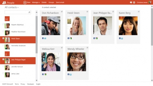 Microsoft launches Metro UI Outlook Mail Service