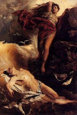 Pictura de Rubens: Hero si Leandru