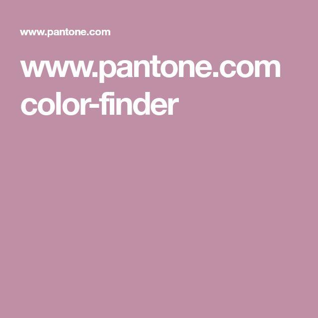 www.pantone.com color-finder