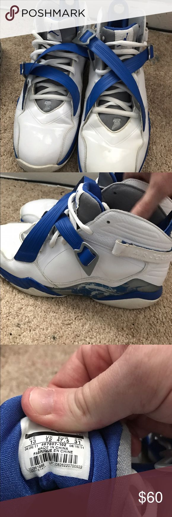 Jordan viii Varsity blue retro 8 in really good condition no box Jordan Shoes Athletic Shoes