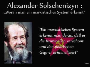 Russe Solschenizyn gegen Marxismus