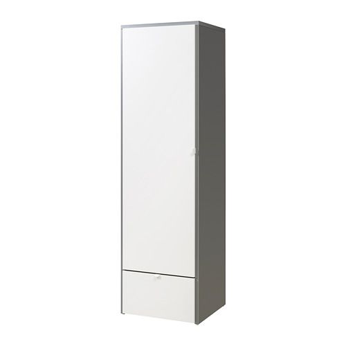 Best IKEA VISTHUS Wardrobe Grey white xx cm The bottom drawers have castors and therefore easy