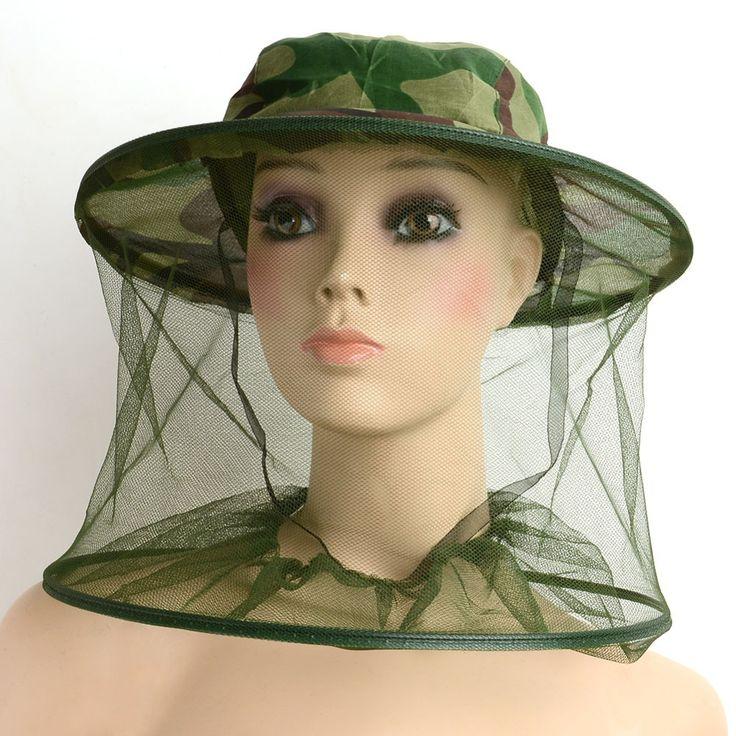 Serangga Kelambu Mesh Wajah Memancing Berburu Berkemah Di Luar Ruangan Topi Topi Pelindung