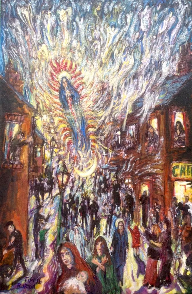 Long Row The Night The Angels Came Down, Wakefield Artist Tim Burton.