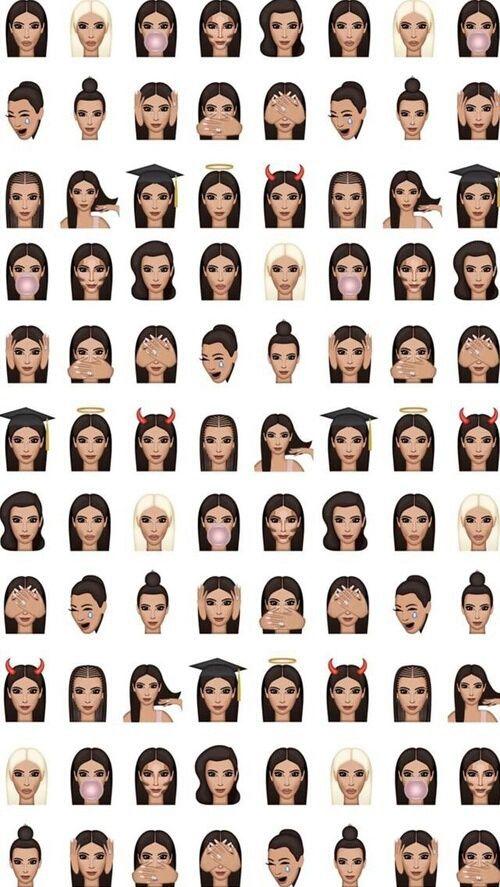 wallpaper, kimoji, and kim kardashian image