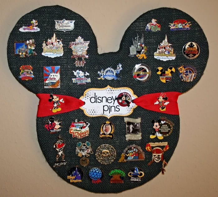 Cute way to display Disney pins