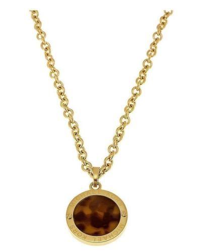 Michael kors necklace 61 pinterest michael kors mkj3567710 womens gold tone tortoise disc mozeypictures Image collections