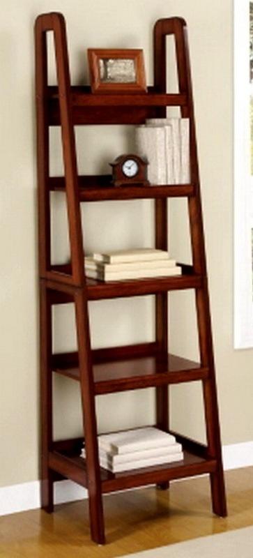 New Ladder Style Wooden Bookcase Shelving Wood Display Shelves Birch Finish  | eBay