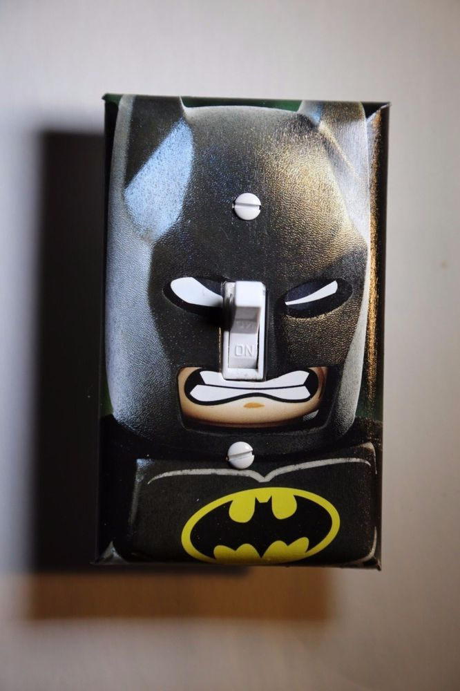 Lego Batman Light Switch Cover Superhero Comic Book Boys Room Bedroom Kid Decor