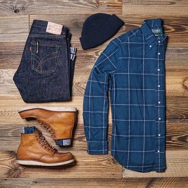 Basics in Blue in this Stylish Grid by @sel.vage  Follow  @stylishgridgame   www.StylishGridGame.com  Brands  Shirt: @gitmanvintage Jeans: @thomas.von.stuff Boots: @redwingheritage Socks: @chupsocks Hat: @knickerbocker - Men's #Fashion Trends and Latest Styles - Celebrities and Popular Culture - #Shopping Inspiration for Bargain Hunters - Fashionistas and Shopaholics - Haute Couture - Men's Apparel and Accessories - Advertising and Editorial #Photography - International Magazines - Luxury…