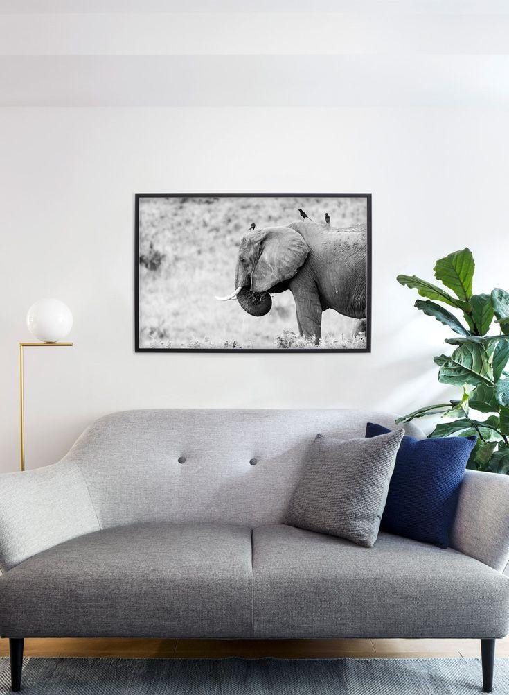 Elephant Poster Home Decor Living Room Decor Frame Wall Decor