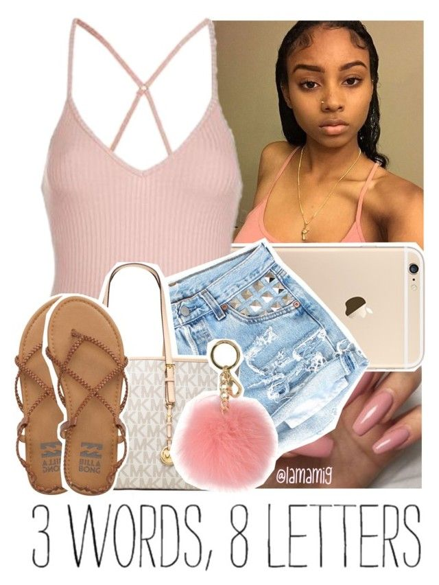 """""""sleepy, so goodnight y'all.."""" by lamamig ❤ liked on Polyvore featuring Topshop, MICHAEL Michael Kors and Billabong"""