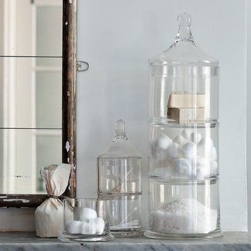 Stacked Apothecary Jars   Traditional   Bath And Spa Accessories   West Elm