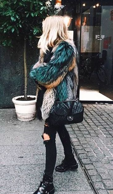 Two of my favorite things funky colors and fur