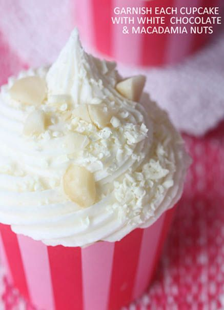 1147 best cupcakes not just a piece of paper filled with for White chocolate macadamia nut ice cream