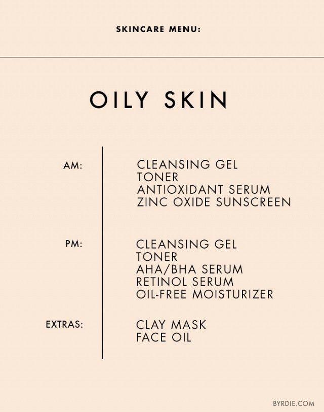 Skincare Menu: Oily/Acne-Prone Skin                                                                                                                                                      More