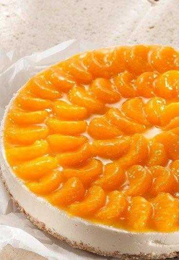 Joghurt-Mandarinen-Torte mit Amaranth-Boden