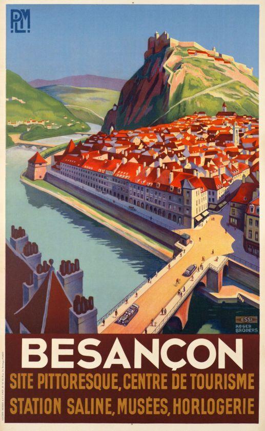 plm besan on site pittoresque centre de tourisme 1930 illustration de roger broders. Black Bedroom Furniture Sets. Home Design Ideas